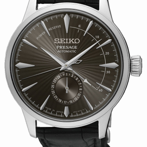 Seiko Presage SSA345J Black Leather Mens Watch