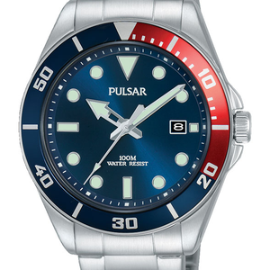 Pulsar PG8291X Silver Stainless Steel Mens Watch