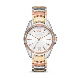 Michael Kors Whitney MK6686 Rose and Silver Stainless Steel Womens Watch