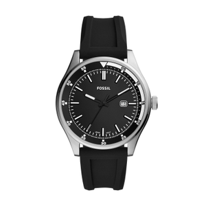 Fossil Belmar FS5535 Black Rubber Mens Watch