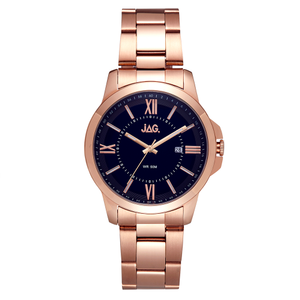 Jag Xavier J2271A Rose Gold Stainless Steel Mens Watch