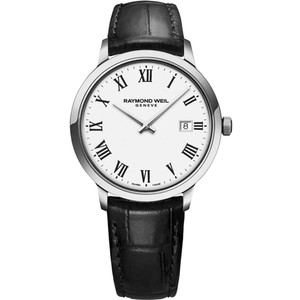 Raymond Weil Toccata 5485-STC-00300 Black Leather Mens Watch