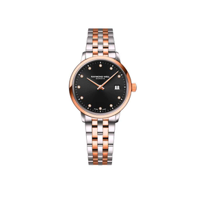 Toccata 2T Mother of Pearl Diamonds Black Dial Womens Watch