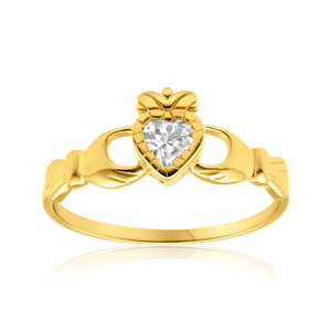 9ct Yellow Gold Enticing Cubic Zirconia Ring