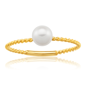 9ct Yellow Gold Freshwater Pearl Ring