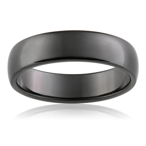 6mm Smooth Finish Zirconium Gents Ring