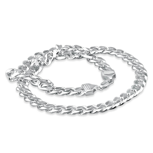 Sterling Silver Diamond Cut 50cm Curb Chain