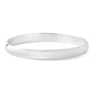 Sterling Silver Soild Plain 8mm Golf 65mm Bangle