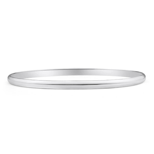 Sterling Silver Plain 70mm Bangle