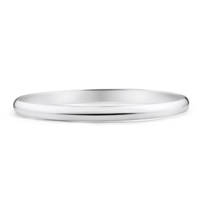 Sterling Silver Plain Golf 70mm Bangle