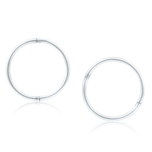 Sterling Silver Plain Sleeper 13mm Earrings