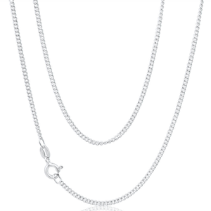 Curb 50cm Chain in Sterling Silver