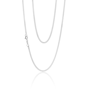 Sterling Silver 60 Gauge Curb Chain 55cm