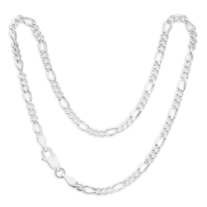 Sterling Silver Figaro Dicut Anklet