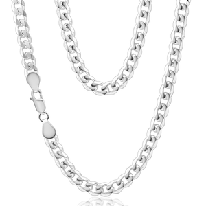Sterling Silver 55cm 200 Gauge Bevelled Curb Chain