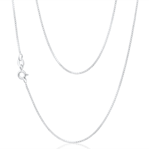 Sterling Silver Box 44cm Chain