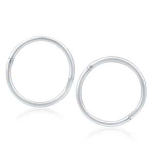 Sterling Silver Plain 10mm Sleeper Earrings