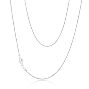 Sterling Silver Snake 40cm Chain