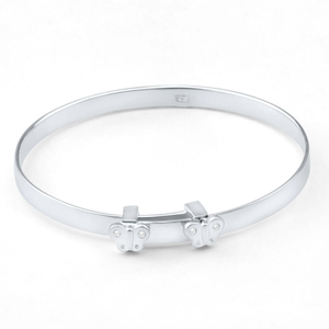 Sterling Silver Baby Butterfly 45mm Bangle