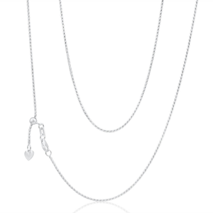 Sterling Silver Wheat Extender Anti Tarnish Chain