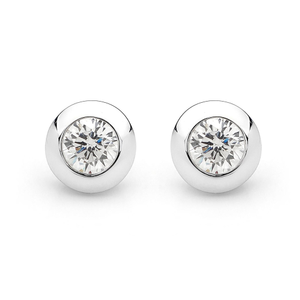 Georgini Sterling Silver Cubic Zirconia Stud Earrings