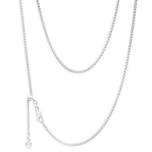 Sterling Silver Wheat Extender 55cm Anti Tarnish Chain