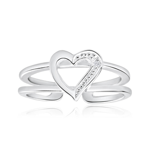 Sterling Silver Zirconia Heart Toe Ring