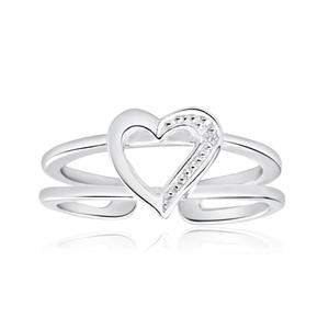 Sterling Silver Zirconia Heart Toe Ring