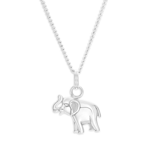 Sterling Silver Oxidised Elephant Pendant