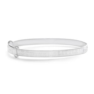 Sterling Silver Baby Twinkle Twinkle 45mm Bangle