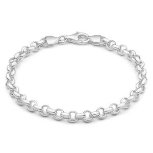 Sterling Silver Belcher 19cm Bracelet