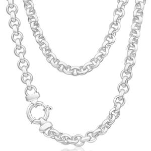 Sterling Silver Belcher Boltring 50cm Chain