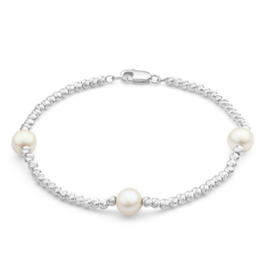 Sterling Silver Pearl Brilliance Bracelet