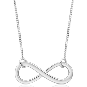 Sterling Silver Infinity Pendant With 45cm Chain