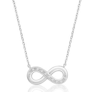 Sterling Silver Diamond 45cm elegant Infinity Chain