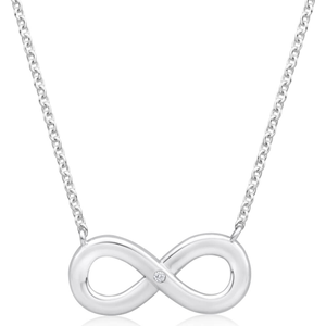 Sterling Silver Infinity Diamond Chain