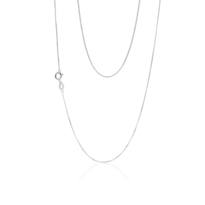 Sterling Silver Curb 45cm length Chain
