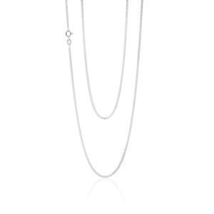 Sterling Silver Diamond Cut 70cm Curb Chain