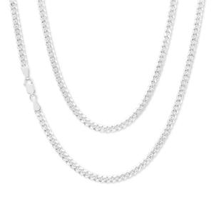 Sterling Silver 100 Gauge Diamond Cut 60cm Curb Chain