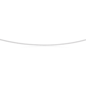 Sterling Silver Unisex Curb 45cm length Chain