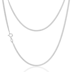 Sterling Silver Curb 60 Gauge 45cm Chain