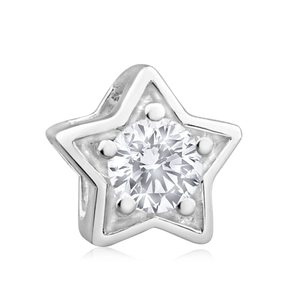 Amadora Sterling Silver Cubic Zirconia Star Charm