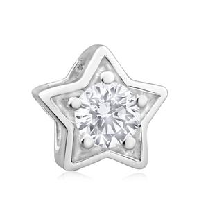 Amadora Sterling Silver Cubic Zirconia Star Charm