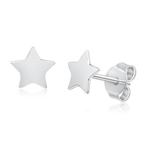 Sivler Star Stud Earrings