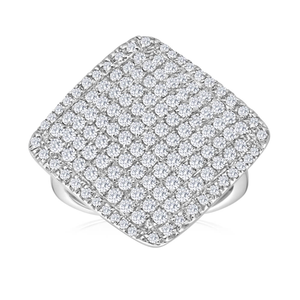 Sterling Silver Enchanting Diamond Ring
