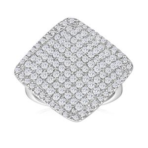 Sterling Silver Enchanting Diamond Ring