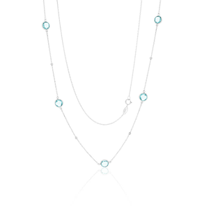 Sterling Silver Blue Topaz Chain