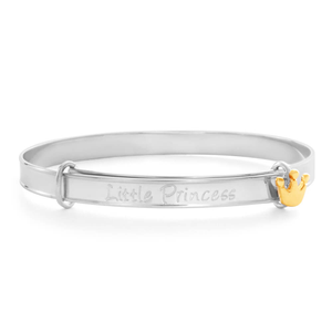 Sterling Silver Little Princess Bangle