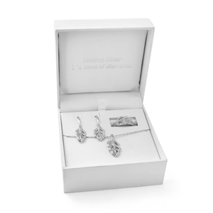 Sterling Silver Diamond Jewellery Set