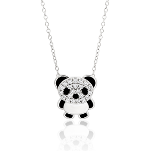 Sterling Silver Cubic Zirconia Pendant With 42cm Chain